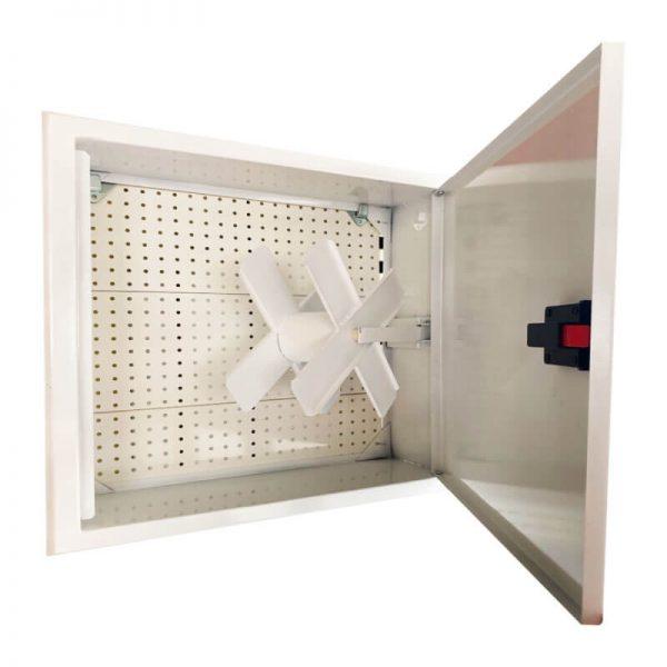 Пожарна касета за вграждане с плътна врата - бяла