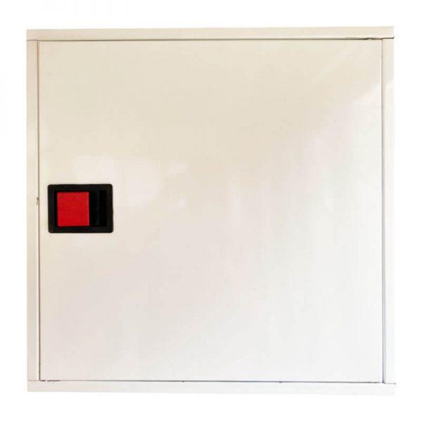 Пожарна касета за външен монтаж с плътна врата - бяла