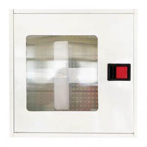 Пожарна касета за външен монтаж с прозорец - бяла