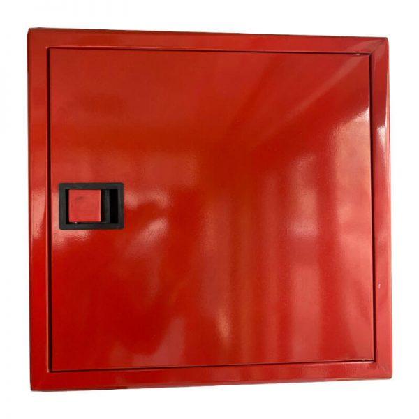Пожарна касета за вграждане с плътна врата - червена