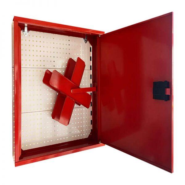 Пожарна касета за външен монтаж с плътна врата - червена