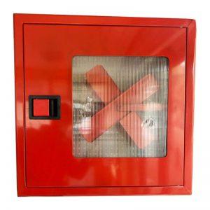 Пожарна касета за вграждане с прозорец - червена