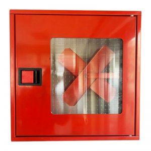 Пожарна касета за външен монтаж с прозорец - червена