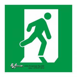 """Указателнa табелa за авариен изход """"Изход от дясно"""" 15/15 см"""
